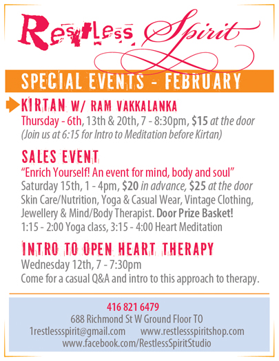 Restless Spirit: February Happenings!